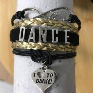 Girls Dance Bracelet - Black & Gold